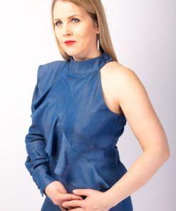 combishort à volants asymétrique écologique-fashion-pour-femme made in france