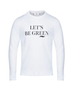Sweat bio unisexe Blanc Let's be Green Césarine