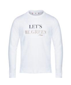 Sweat bio unisexe blanc Let's be Green- Anaël
