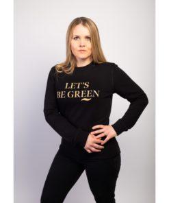 sweat bio unisexe noir labellisé GOTS Let's Be Green
